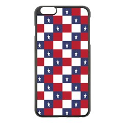 American Flag Star White Red Blue Apple Iphone 6 Plus/6s Plus Black Enamel Case by Mariart