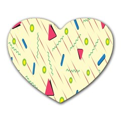 Background  With Lines Triangles Heart Mousepads by Mariart