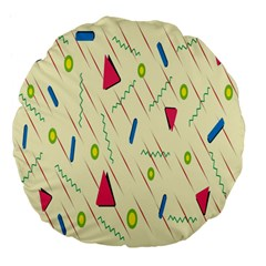 Background  With Lines Triangles Large 18  Premium Flano Round Cushions by Mariart