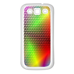 Abstract Rainbow Pattern Colorful Stars Space Samsung Galaxy S3 Back Case (white) by Mariart