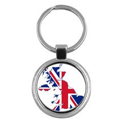 Britain Flag England Nations Key Chains (round)  by Mariart