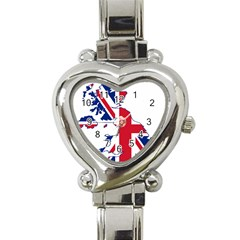 Britain Flag England Nations Heart Italian Charm Watch by Mariart