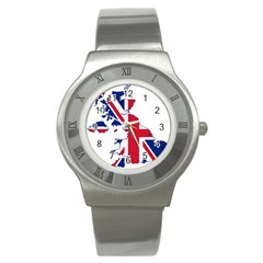 Britain Flag England Nations Stainless Steel Watch by Mariart