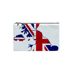 Britain Flag England Nations Cosmetic Bag (small)  by Mariart