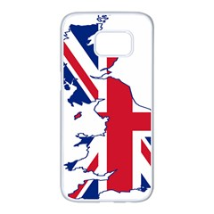 Britain Flag England Nations Samsung Galaxy S7 Edge White Seamless Case by Mariart