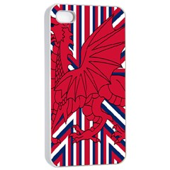 Alternatively Mega British America Red Dragon Apple Iphone 4/4s Seamless Case (white) by Mariart