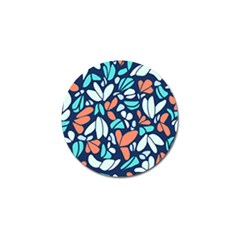 Blue Tossed Flower Floral Golf Ball Marker (4 Pack) by Mariart