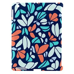 Blue Tossed Flower Floral Apple Ipad 3/4 Hardshell Case (compatible With Smart Cover) by Mariart