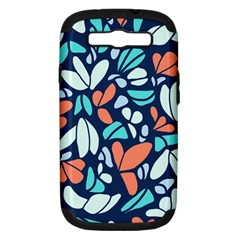 Blue Tossed Flower Floral Samsung Galaxy S Iii Hardshell Case (pc+silicone) by Mariart