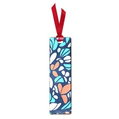 Blue Tossed Flower Floral Small Book Marks by Mariart