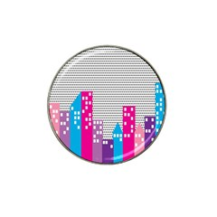 Building Polka City Rainbow Hat Clip Ball Marker by Mariart