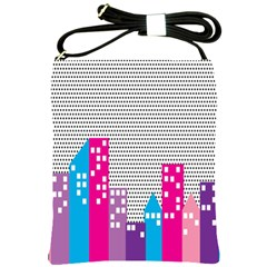 Building Polka City Rainbow Shoulder Sling Bags by Mariart