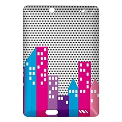 Building Polka City Rainbow Amazon Kindle Fire Hd (2013) Hardshell Case by Mariart