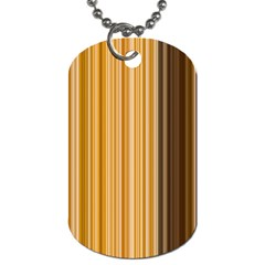 Brown Verticals Lines Stripes Colorful Dog Tag (two Sides) by Mariart