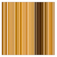 Brown Verticals Lines Stripes Colorful Large Satin Scarf (square) by Mariart