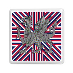 Alternatively Mega British America Dragon Illustration Memory Card Reader (square)  by Mariart