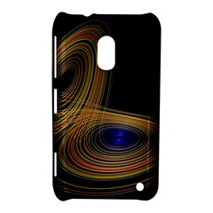 Wondrous Trajectorie Illustrated Line Light Black Nokia Lumia 620 by Mariart