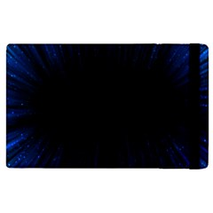 Colorful Light Ray Border Animation Loop Blue Motion Background Space Apple Ipad 2 Flip Case by Mariart