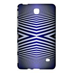 Blue Lines Iterative Art Wave Chevron Samsung Galaxy Tab 4 (8 ) Hardshell Case  by Mariart