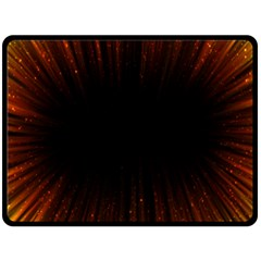Colorful Light Ray Border Animation Loop Orange Motion Background Space Double Sided Fleece Blanket (large)  by Mariart