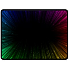Colorful Light Ray Border Animation Loop Rainbow Motion Background Space Fleece Blanket (large)  by Mariart