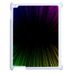 Colorful Light Ray Border Animation Loop Rainbow Motion Background Space Apple Ipad 2 Case (white) by Mariart