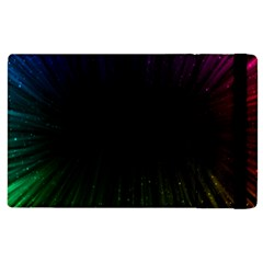 Colorful Light Ray Border Animation Loop Rainbow Motion Background Space Apple Ipad 2 Flip Case by Mariart