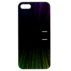 Colorful Light Ray Border Animation Loop Rainbow Motion Background Space Apple Iphone 5 Hardshell Case With Stand by Mariart
