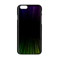 Colorful Light Ray Border Animation Loop Rainbow Motion Background Space Apple Iphone 6/6s Black Enamel Case by Mariart