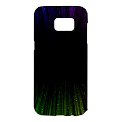 Colorful Light Ray Border Animation Loop Rainbow Motion Background Space Samsung Galaxy S7 Edge Hardshell Case by Mariart
