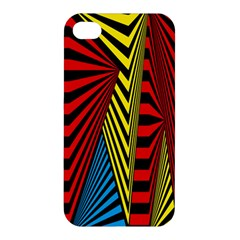 Door Pattern Line Abstract Illustration Waves Wave Chevron Red Blue Yellow Black Apple Iphone 4/4s Hardshell Case by Mariart