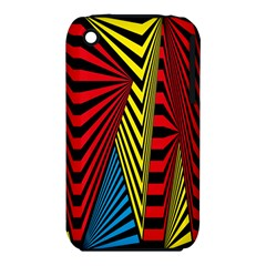 Door Pattern Line Abstract Illustration Waves Wave Chevron Red Blue Yellow Black Iphone 3s/3gs by Mariart