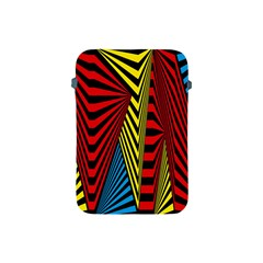 Door Pattern Line Abstract Illustration Waves Wave Chevron Red Blue Yellow Black Apple Ipad Mini Protective Soft Cases by Mariart