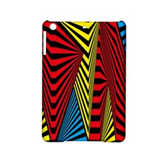 Door Pattern Line Abstract Illustration Waves Wave Chevron Red Blue Yellow Black Ipad Mini 2 Hardshell Cases by Mariart