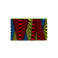 Door Pattern Line Abstract Illustration Waves Wave Chevron Red Blue Yellow Black Cosmetic Bag (xs) by Mariart