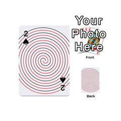 Double Line Spiral Spines Red Black Circle Playing Cards 54 (mini)  by Mariart