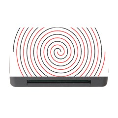 Double Line Spiral Spines Red Black Circle Memory Card Reader With Cf by Mariart