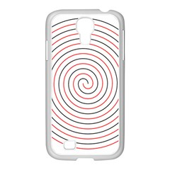 Double Line Spiral Spines Red Black Circle Samsung Galaxy S4 I9500/ I9505 Case (white) by Mariart