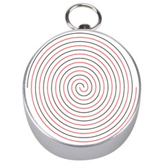 Double Line Spiral Spines Red Black Circle Silver Compasses by Mariart