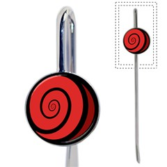 Double Spiral Thick Lines Black Red Book Mark by Mariart