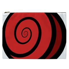 Double Spiral Thick Lines Black Red Cosmetic Bag (xxl)  by Mariart