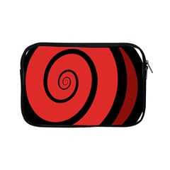 Double Spiral Thick Lines Black Red Apple Ipad Mini Zipper Cases by Mariart