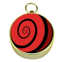 Double Spiral Thick Lines Black Red Gold Compasses by Mariart