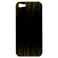 Colorful Light Ray Border Animation Loop Yellow Apple Iphone 5 Hardshell Case by Mariart