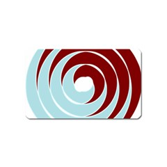Double Spiral Thick Lines Blue Red Magnet (name Card) by Mariart