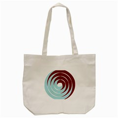 Double Spiral Thick Lines Blue Red Tote Bag (cream) by Mariart