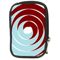 Double Spiral Thick Lines Blue Red Compact Camera Cases by Mariart