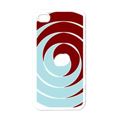 Double Spiral Thick Lines Blue Red Apple Iphone 4 Case (white) by Mariart