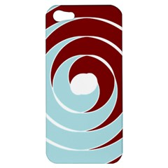 Double Spiral Thick Lines Blue Red Apple Iphone 5 Hardshell Case by Mariart