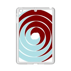 Double Spiral Thick Lines Blue Red Ipad Mini 2 Enamel Coated Cases by Mariart
